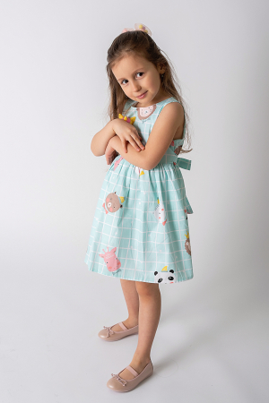 Rochie albastra cu ursuleti1