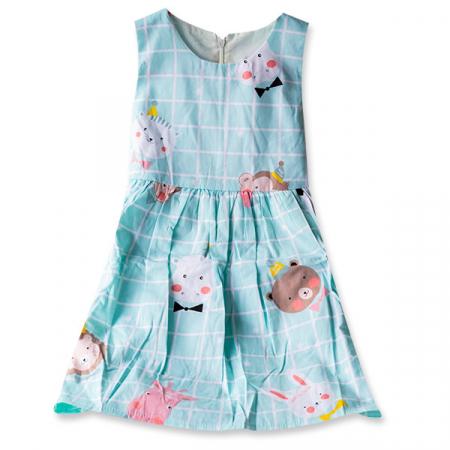 Rochie albastra cu ursuleti3