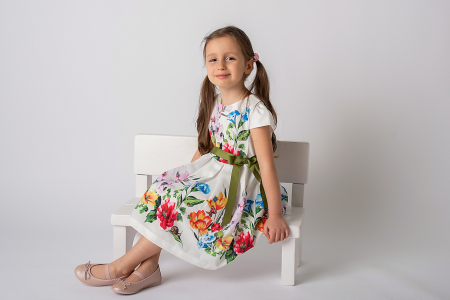 Rochie cu flori si cordon [4]