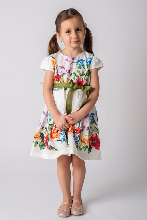 Rochie cu flori si cordon [0]
