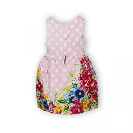 Rochie cu imprimeu floral si buline5