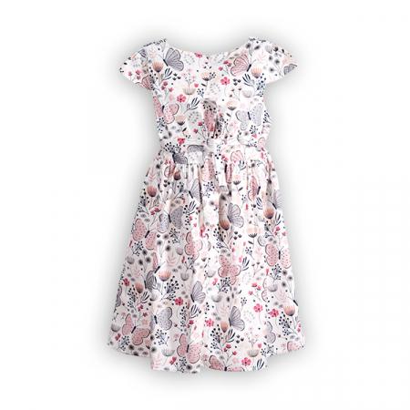 Rochie cu imprimeu flori si fluturi1