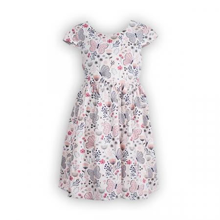 Rochie cu imprimeu flori si fluturi0