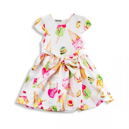Rochie cu imprimeu inghetata colorata8