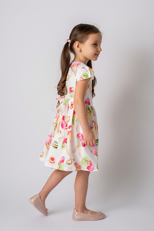 Rochie cu imprimeu inghetata colorata6