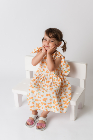 Rochie cu imprimeu portocale [4]