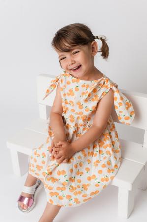 Rochie cu imprimeu portocale [1]