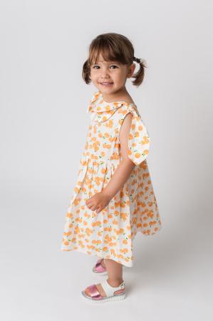 Rochie cu imprimeu portocale [3]