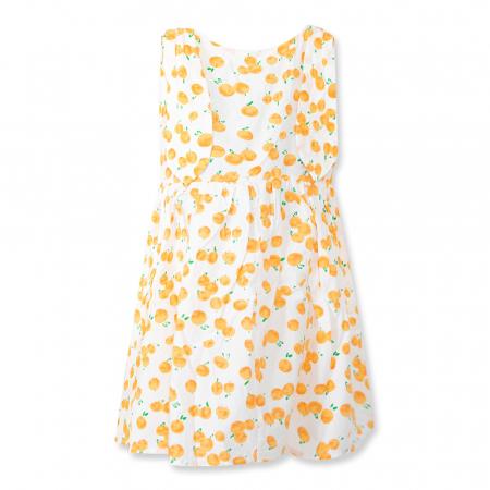 Rochie cu imprimeu portocale [6]