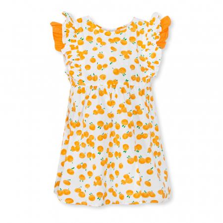 Rochie cu imprimeu portocale0