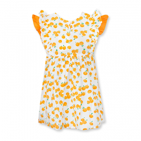 Rochie cu imprimeu portocale1