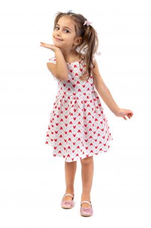 Rochie cu imprimeu rosu0
