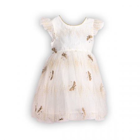 Rochie cu tulle si broderie0
