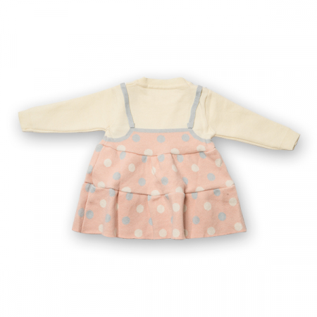 Pulover tip rochita din tricot cu buline7