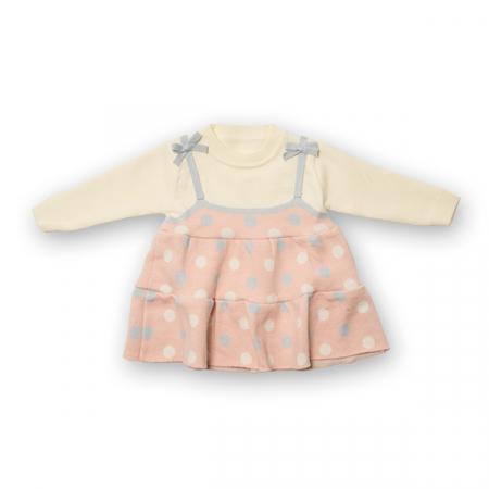 Pulover tip rochita din tricot cu buline6