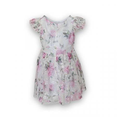 Rochie eleganta cu tulle imprimat cu flori3