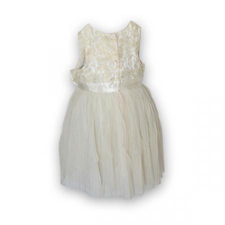 Rochie eleganta plisata cu dantela si tulle4