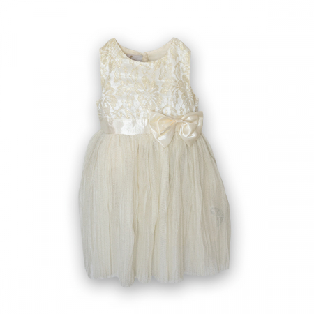 Rochie eleganta plisata cu dantela si tulle3