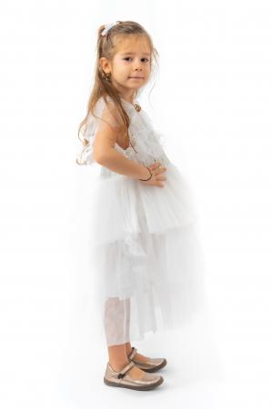 Rochie eleganta din tulle cu volanase si paiete1