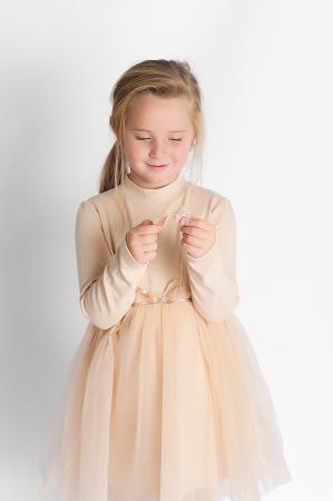 Rochie eleganta maro cu tulle si cordon4
