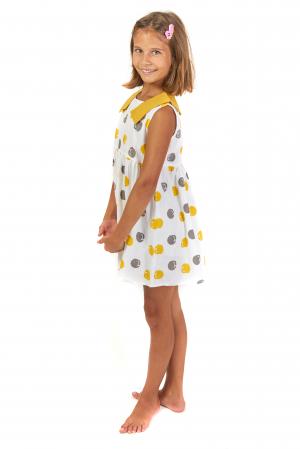 Rochie lejera din bumbac cu imprimeu si guler contrastant [2]