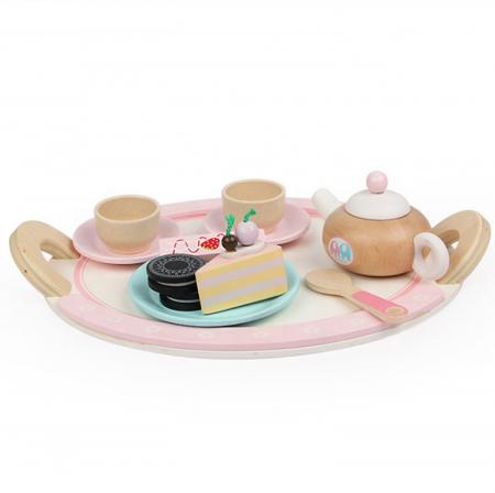 Set de dulciuri și ceai din lemn -12 piese2