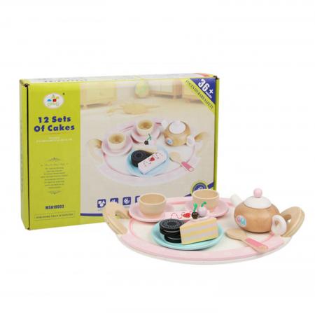 Set de dulciuri și ceai din lemn -12 piese6