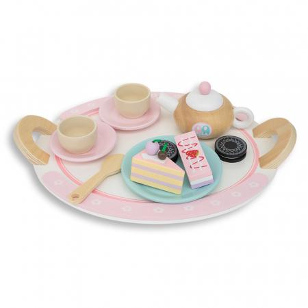 Set de dulciuri și ceai din lemn -12 piese1