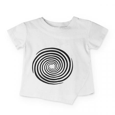 Tricou alb cu cercuri negre0
