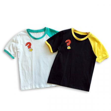 Tricou alb cu guler contrastant [5]