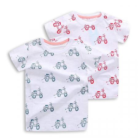 Tricou alb cu imprimeu rosu [5]