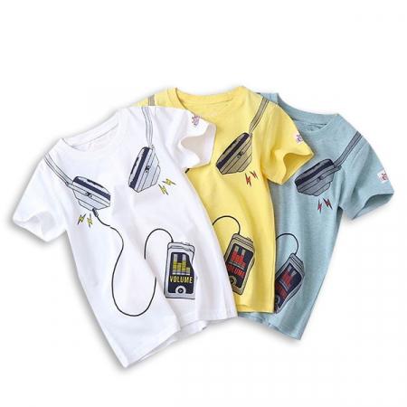 Tricou alb cu imprimeu [3]