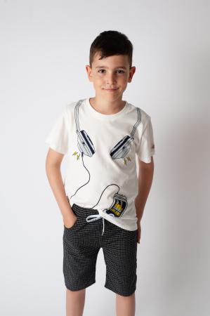 Tricou alb cu imprimeu [0]