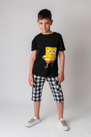 Tricou cu imprimeu culoare negru3