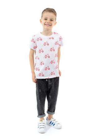 Tricou alb cu imprimeu rosu [1]