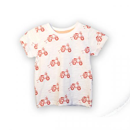 Tricou alb cu imprimeu rosu [3]