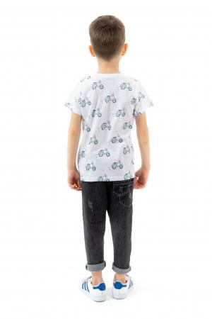 Tricou alb cu imprimeu verde [2]