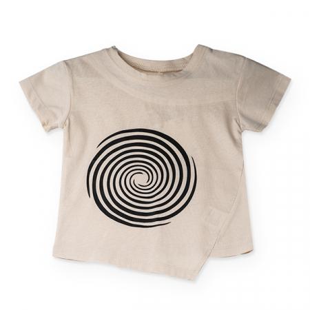 Tricou bej cu cercuri negre0