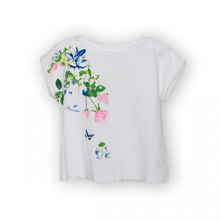 Tricou cu imprimeu floral [4]