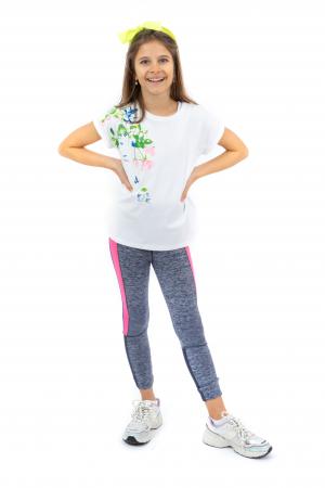 Tricou cu imprimeu floral [0]