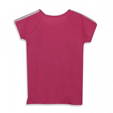 Tricou cu imprimeu si aplicatii culoare fucsia [5]