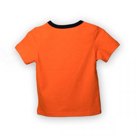 Tricou cu imprimeu si guler contrastant1
