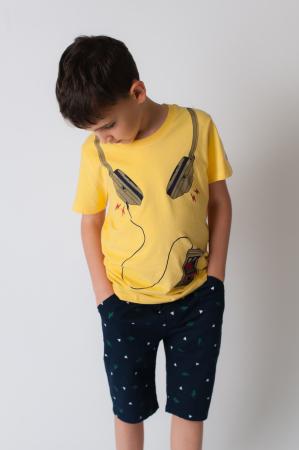 Tricou galben cu imprimeu [3]