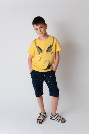 Tricou galben cu imprimeu [2]