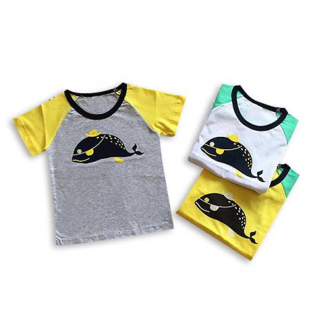 Tricou galben cu guler contrastant5
