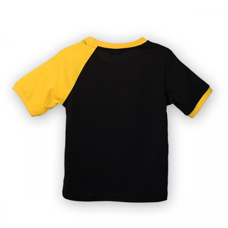 Tricou negru cu guler contrastant [4]