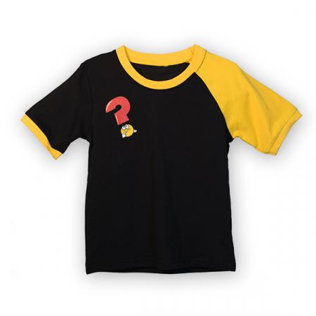 Tricou negru cu guler contrastant [3]