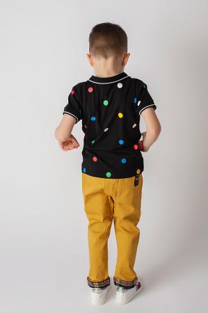 Tricou polo cu buline colorate3