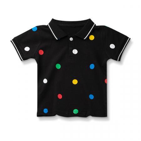 Tricou polo cu buline colorate4