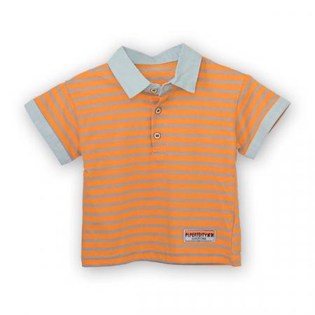 Tricou polo cu buline colorate [0]